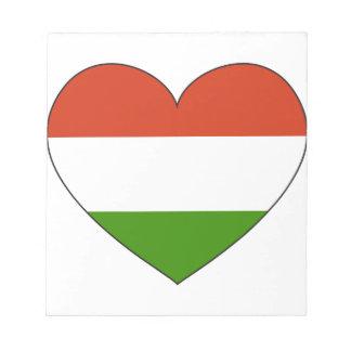 Bloc De Notas Bandera de Hungría simple