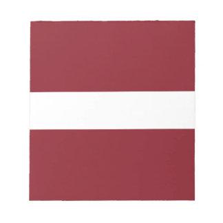 Bloc De Notas Bandera de Letonia