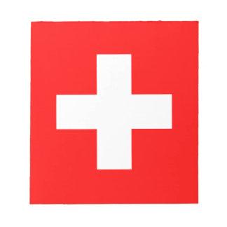 Bloc De Notas Bandera de Suiza