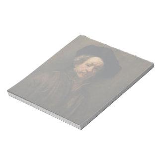 Bloc De Notas Bella arte del autorretrato de Rembrandt Van Rijn