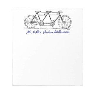 Bloc De Notas Bici del vintage construida para apenas el