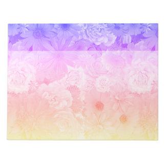 Bloc De Notas Boda floral en colores pastel de Boho de las