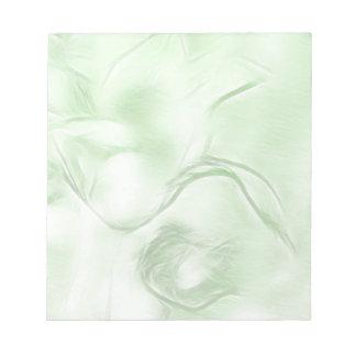 Bloc De Notas Bosquejo de la flor de dos tulipanes en verde