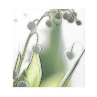 Bloc De Notas Bosquejo de la repetición de la flor del lirio de