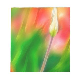 Bloc De Notas Bosquejo rojo y amarillo verde del tulipán