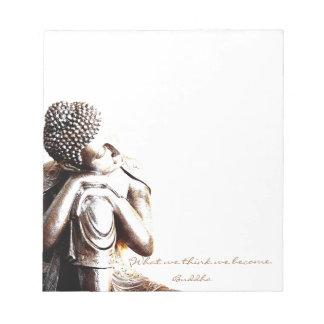 Bloc De Notas Buda de reclinación pacífico con palabras de la