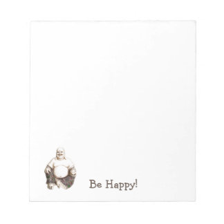 Bloc De Notas Buena suerte de risa feliz Buda
