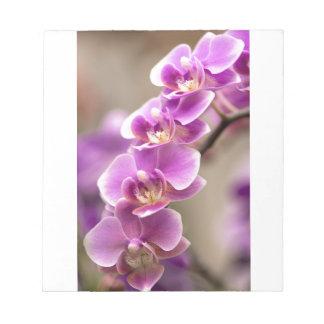 Bloc De Notas Cadena de flor de color rosa oscuro de la orquídea