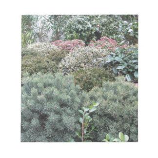 Bloc De Notas Centro de jardín con la selección de plantas de