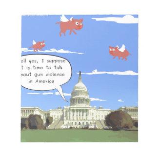 Bloc De Notas Charla del congreso y de la violencia armada