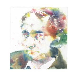 Bloc De Notas CHARLES BAUDELAIRE - acuarela portrait.1
