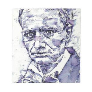 Bloc De Notas CHARLES BAUDELAIRE - acuarela portrait.4