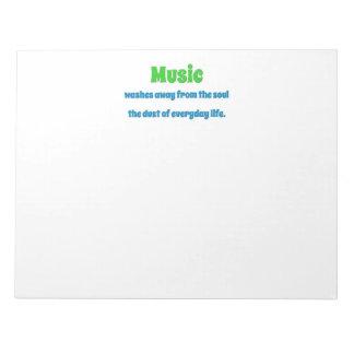 Bloc De Notas Cita de la música - la música se lava lejos del th