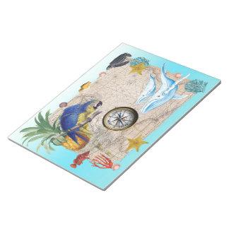 Bloc De Notas Collage azul tropical