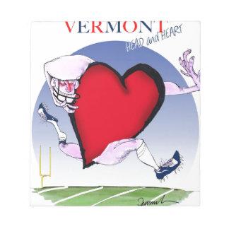 Bloc De Notas Corazón principal de Vermont, fernandes tony