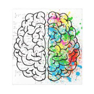 Bloc De Notas corazones de la idea de la psicología de la mente