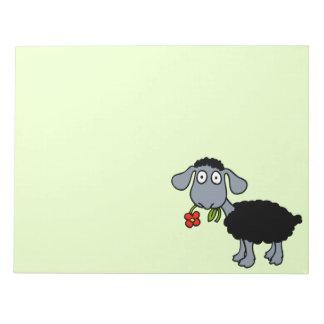 Bloc De Notas Cordero lindo del dibujo animado de las ovejas