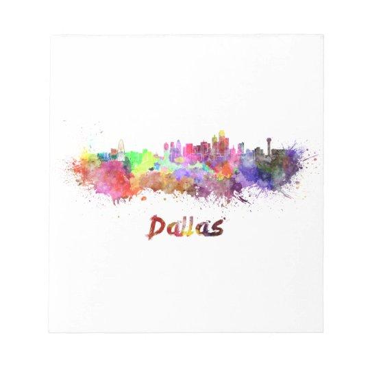 Bloc De Notas Dallas skyline in watercolor