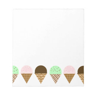 Bloc De Notas ~ de los conos de helado una diversión, dibujo