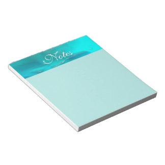 Bloc De Notas Diseño plástico líquido azul del trullo fresco