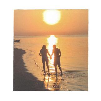 Bloc De Notas Dos amantes en la salida del sol