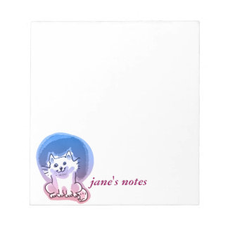 Bloc De Notas ejemplo blanco del estilo del dibujo animado del