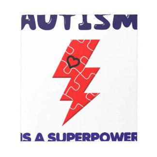 Bloc De Notas El autismo es superpotencia, mente mental de la