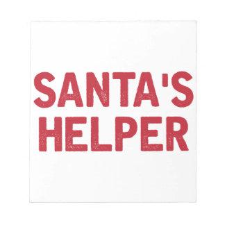 Bloc De Notas El ayudante de Santa
