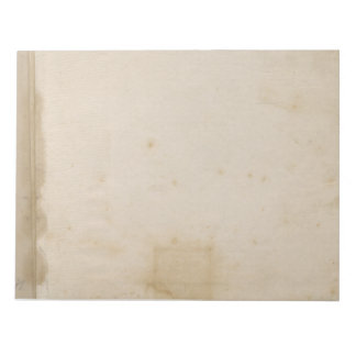 Bloc De Notas El beige en blanco apenó el papel manchado