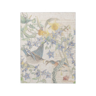 Bloc De Notas El narciso de los pájaros del Bluebird de Audubon