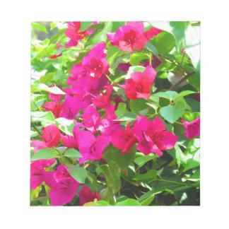 Bloc De Notas Emblema floral del bougainvillea de la flor del