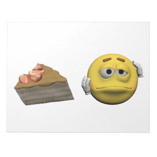 Bloc De Notas Emoticon enfermo amarillo o smiley