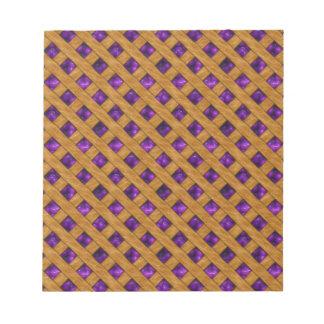 Bloc De Notas Empanada púrpura
