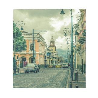 Bloc De Notas Escena urbana de centro histórica en la ciudad de