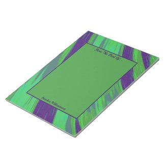 Bloc De Notas Extracto azulverde del chasquido del color