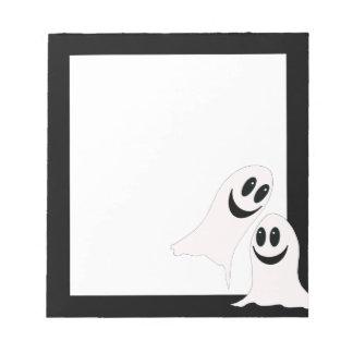 Bloc De Notas Fantasmas lindos del dibujo animado de Halloween