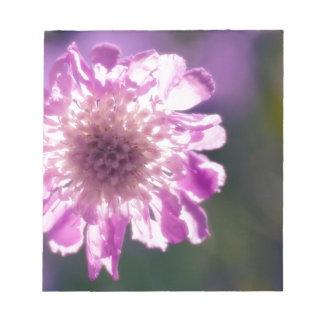 Bloc De Notas Flor de Scabiosa de la lavanda