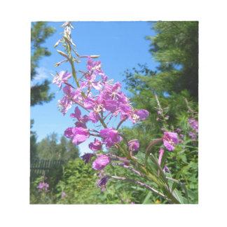 Bloc De Notas flor púrpura