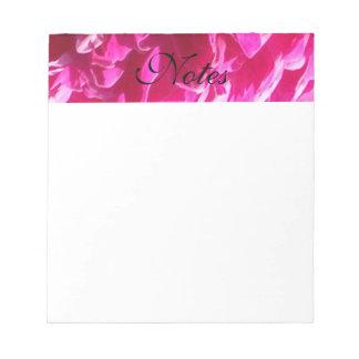 Bloc De Notas Flor rosada del Peony