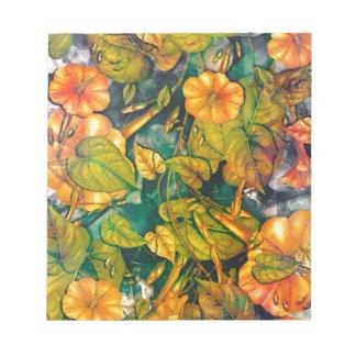 Bloc De Notas flores anaranjadas