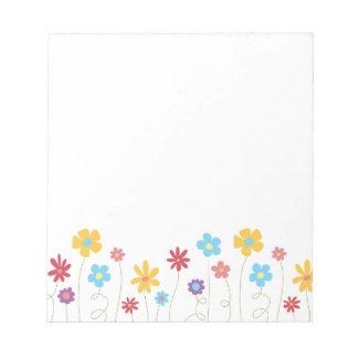 Bloc De Notas Flores enrrolladas de la primavera