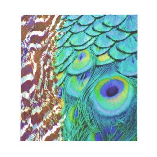 Bloc De Notas Flujo pacífico del Peafowl