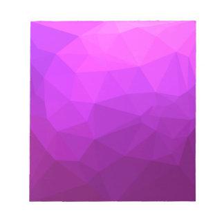 Bloc De Notas Fondo bajo abstracto púrpura bizantino del