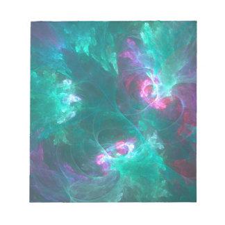 Bloc De Notas Fractal abstracto en una paleta fría