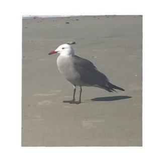 Bloc De Notas Gaviota en la playa