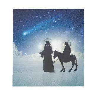 Bloc De Notas Historia Maria y Jesús del navidad
