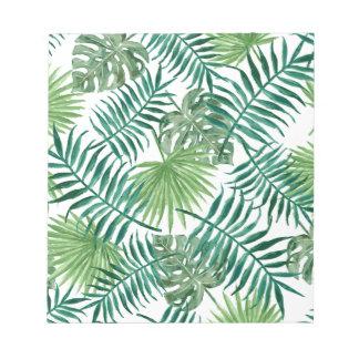 Bloc De Notas Hoja de palma botánica tropical de la planta