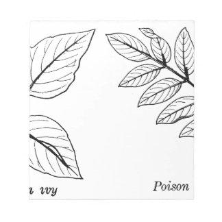 Bloc De Notas Hojas botánicas del vintage