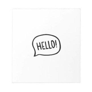 Bloc De Notas ¡Hola! ¡Mundo! Estoy aquí