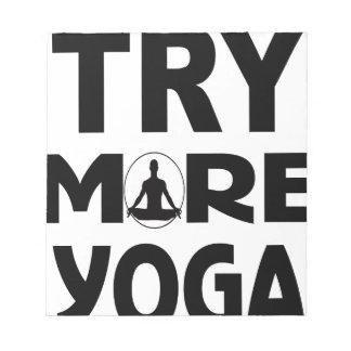 Bloc De Notas Intente más yoga